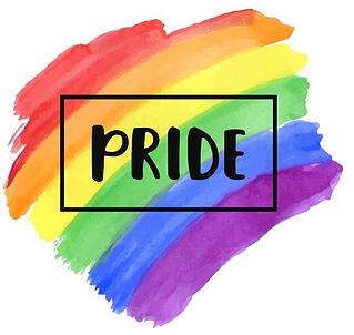 Pride watercolour logo