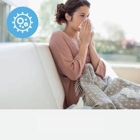 Women Sneezing - Allergies